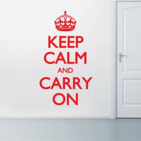 Adesivo de parede - Keep calm and carry on 1