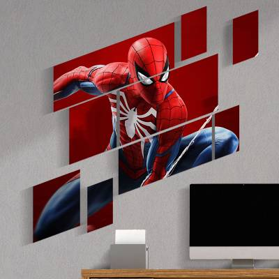 Kit 09 Quadros Decorativos Heróis Homem Aranha