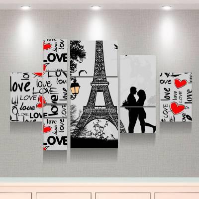 Kit 10 Quadros Decorativos Paris Românticos