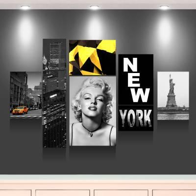 Kit 10 Quadros Decorativos Marylin Monroe Nova Iorque