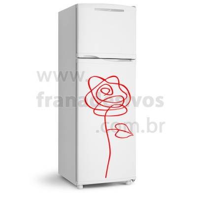 Adesivo de Geladeira Modelo Rosa / Flor