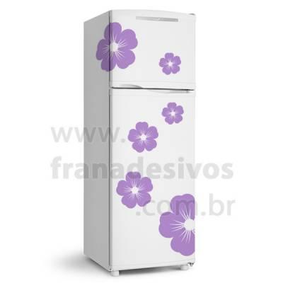 Adesivo de Geladeira Floral Flor Flores