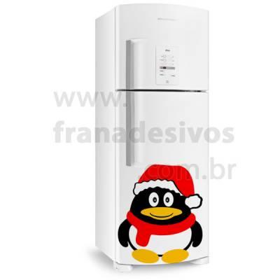 Adesivo de Geladeira Pinguim de natal