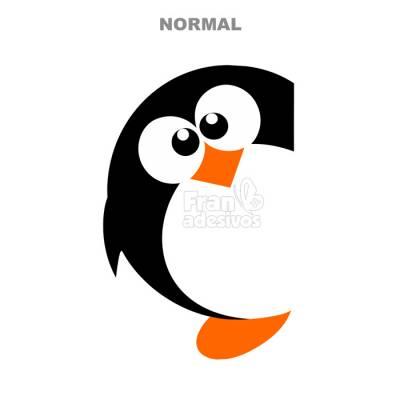 Adesivo de Geladeira Pinguim Gordinho