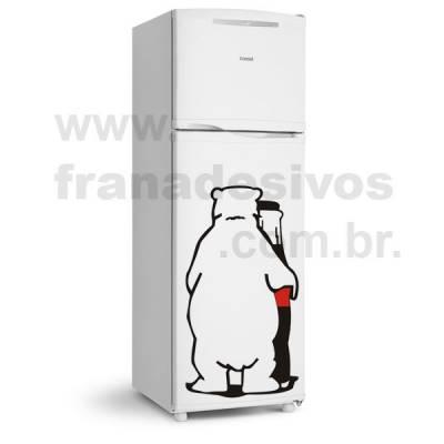 Adesivo de Geladeira Urso / Ursinho Polar / Coca-Cola