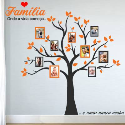 Adesivo de Parede Arvore da Família 7