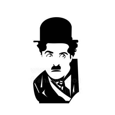 Adesivo decorativo de parede Charlie Chaplin 2
