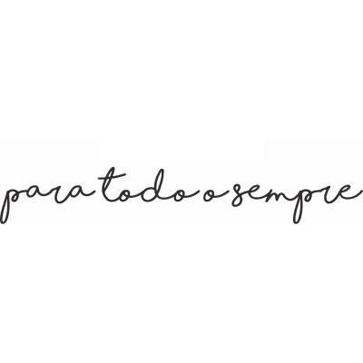 Adesivo Parede Romântico Frase Para Todo Sempre 3
