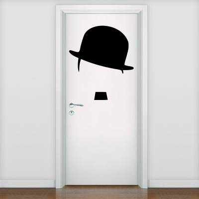 Adesivo De Parede E Porta Charlie Chaplin 3