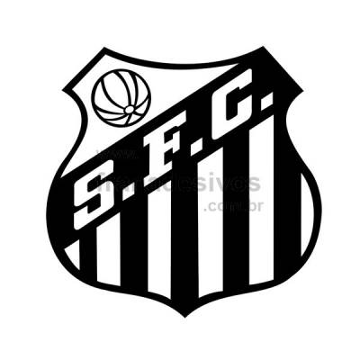 Adesivo Decorativo - Escudo do Santos