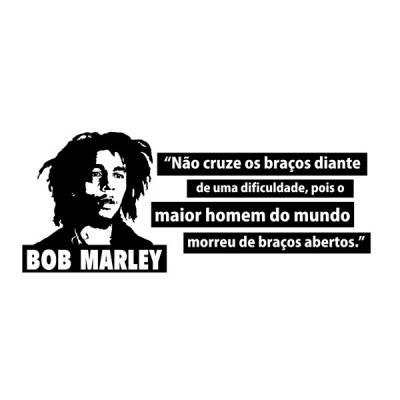 Adesivo de parede frase Bob Marley