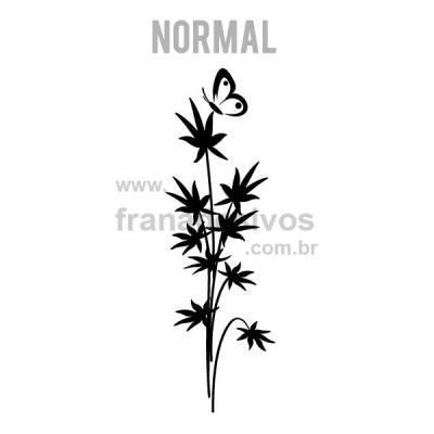 Adesivo Decorativo de Parede Floral Modelo 21 (floral com borboleta)