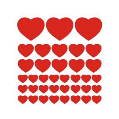Adesivo Decorativo - Kit de Corações
