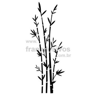Adesivo de Parede Floral Modelo 16 (bambu)