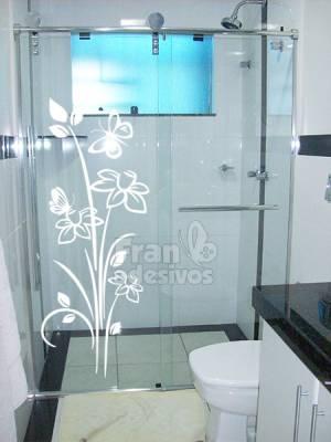 Adesivo para Box de Banheiro Floral 5