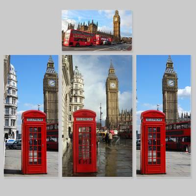 Adesivo para Envelopamento de Geladeira Completa London Londres