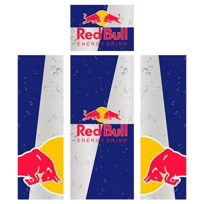 Adesivo para Envelopamento de Geladeira Completa Red Bull