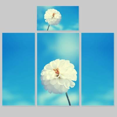 Adesivo para Envelopamento de Geladeira Completa Flores 1
