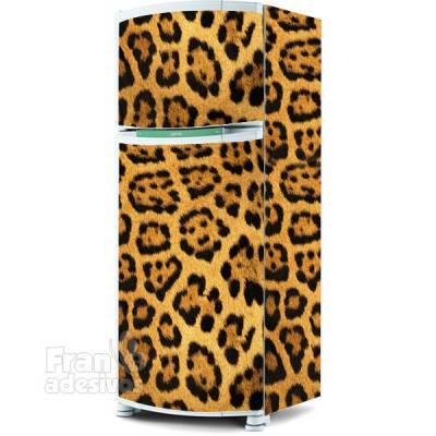 Adesivo para envelopamento de geladeira - Tema pele de onça