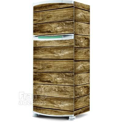 Adesivo para envelopamento de geladeira - Textura de Madeira