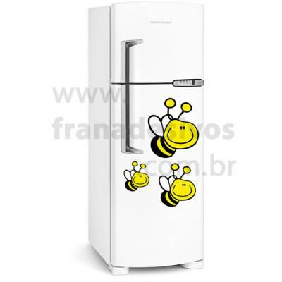 Adesivo de Geladeira 3 abelhas / abelhinhas
