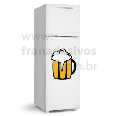 Adesivo de Geladeira Copo de Cerveja