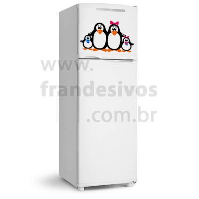 Adesivo de Geladeira Familia Pinguim 2