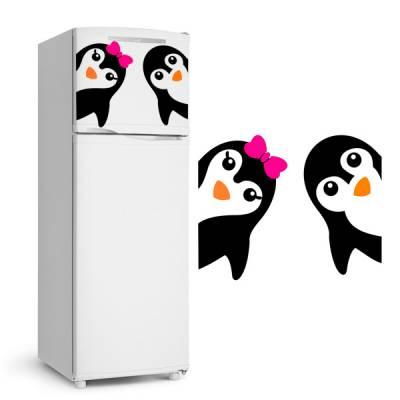 Adesivo de Geladeira Irmãos Pinguins / Pinguim