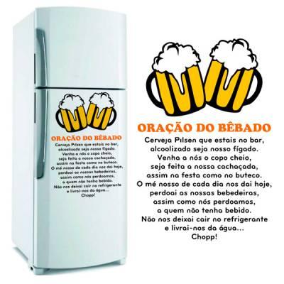 Adesivo de Geladeira Oração do bêbado / Copo de cerveja