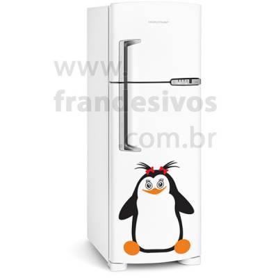 Adesivo de Geladeira Pinguim com lacinhos