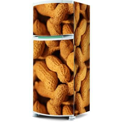 Adesivo para envelopamento de geladeira - Grãos de Amendoim