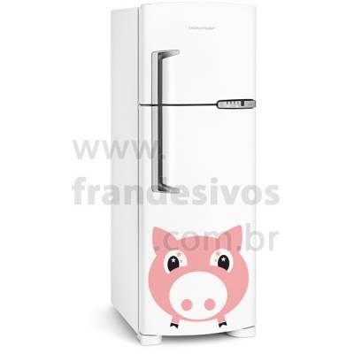 Adesivo de Geladeira Porco / Porquinho Rosa