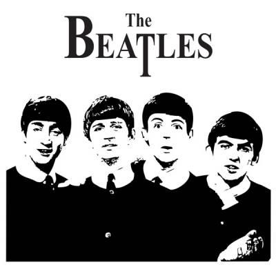 Adesivo decorativo de parede The Beatles