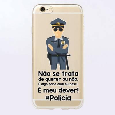 Capinha para Celular Policial Masculino