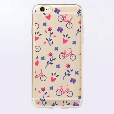 Capinha para Celular Bicicletas com Flores