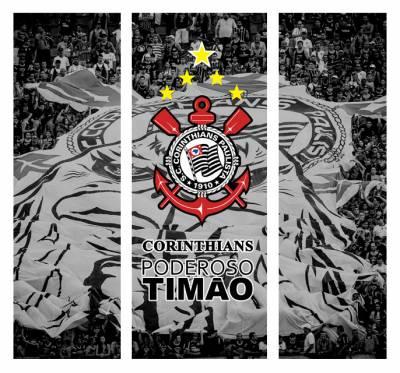 Envelopamento de Geladeira Corinthians