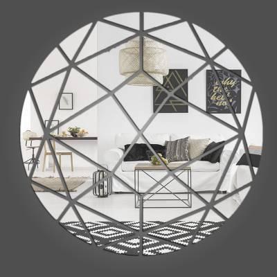 Espelho Decorativo Círculos Abstratos Mod 02