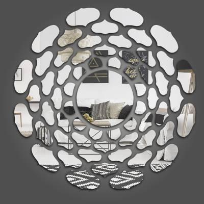 Espelho Decorativo Circulos Abstratos Mod 03