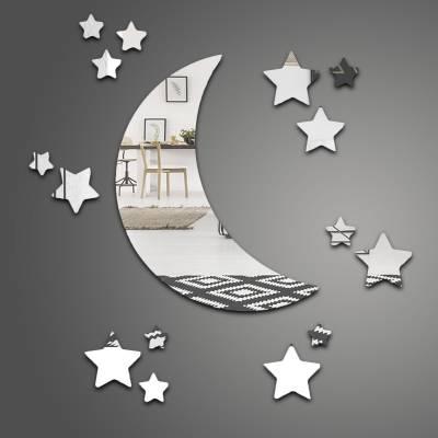 Espelho Decorativo Lua E Estrelas