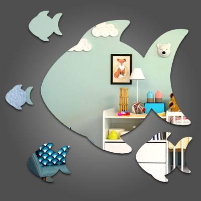 Espelho Decorativo Peixinhos Nadando