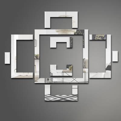 Espelho Decorativo Quadrados Abstratos 01