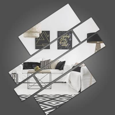 Espelho Decorativo Quadrados Abstratos Mod 04