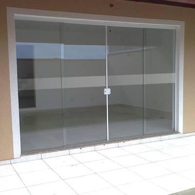 Faixa de Adesivo Jateado Sinalização Portas Blindex Box Vidro
