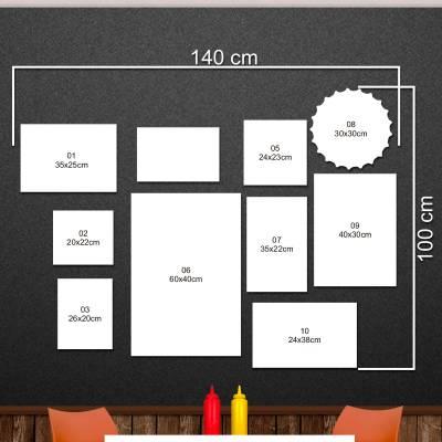Kit 09 Quadros Decorativos Para Lanchonete - 01
