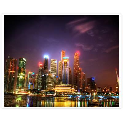 Painel Adesivo Para Parede Cidade a Noite