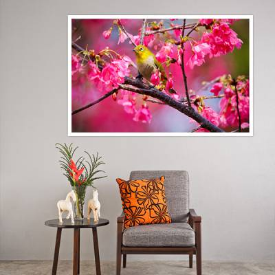 Painel Adesivo Para Parede Floral Modelo 1