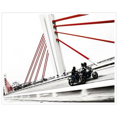 Painel Adesivo Para Parede Motos na Ponte