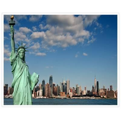 Painel Adesivo Para Parede Nova York Estatua da Liberdade
