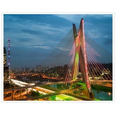 Painel Adesivo Para Parede ponte estaiada