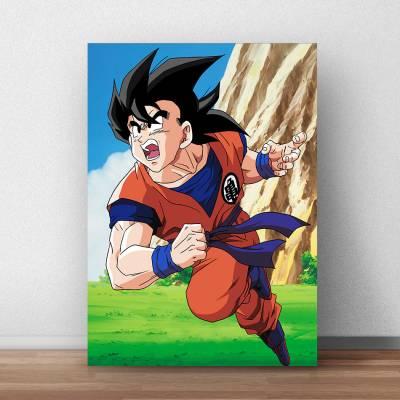 Quadro Decorativo Dragon Ball Goku ao Ataque